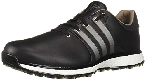 adidas Men's TOUR360 XT Spikeless Golf Shoe, core Black/Iron Metallic/Silver Metallic, 7 M US