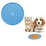 Uktunu Almohadilla para Lamer Alfombrilla para Lamer Lick Mat para Perros 1 Piezas de Silicona Almohadilla Lamer de Perros Alimentador Lento para Alimentación Lenta y Distracción de Perros Azul