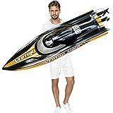 S2.0 Pro。 大型リモコンボートRCホビー潜水艦スピードボート高速31.5インチ(80cm)船体最大速度70km / h超燃焼ブラシレスモーターw / 2 4200mAhバッテリー2020発行