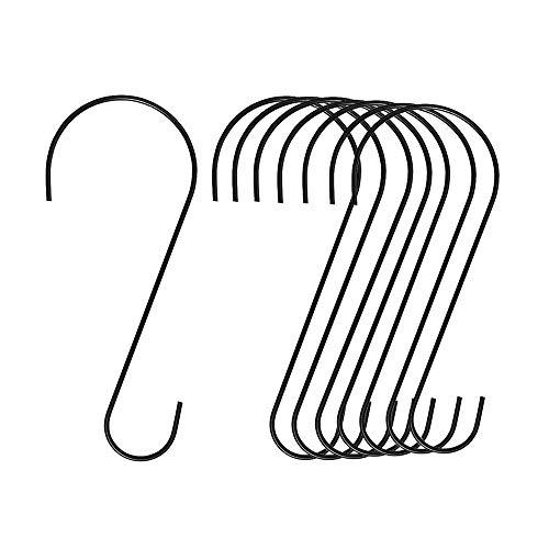 OYYQ 8 팩 조류 피더 후크 스테인레스 스틸 트리 분기 후크 조류 피더 및 욕조 화분 제등 메이슨 항아리 꽃 바구니 및 장식품 12 인치
