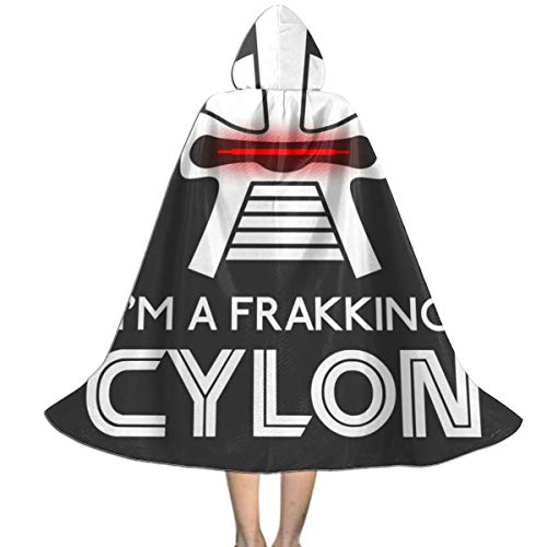 NUJSHF Frakking Zylon Battlestar Galactica Unisex Kapuzenumhang Cape Halloween Weihnachten Party Dekoration Rolle Cosplay Kostüme