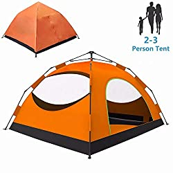 LETHMIK Backpacking Tent, Instant Automatic pop up Tent, 2-3 Person, Lightweight Double Layer Camping Tent for Outdoor Hunting, Hiking, Climbing, Travel