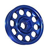 Compatible/Replacement For Acura/Honda (K20 / K24 Engines Only) Aluminum Underdrive Crankshaft Crank Pulley Wheel Blue