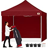 ABCCANOPY Canopy 10x10 Pop Up Commercial Canopy Tent with Side Walls Instant Shade, Bonus Upgrade Roller Bag, 4 Weight Bags, Stakes and Ropes