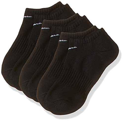NIKE U Nk Everyday Cush Ns 3pr Socks, Unisex adulto, black/(white), L