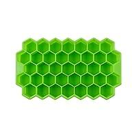 アイスキューブトレイアルコールデプレシ 取り外し可能なカバーシリコーンハニカムアイストレイ金型を持つハニカムアイストレイ (Color : Green No Lid)