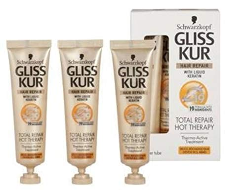 Gliss Kur Hot Therapy Lot de 6 masques capillaires Total Repair 19-3 x 15 ml