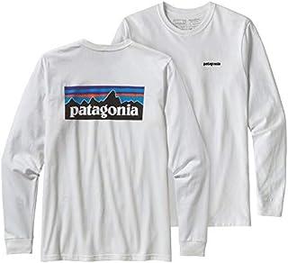Patagonia Mens P-6 Logo Long-Sleeve Responsibili-Tee White