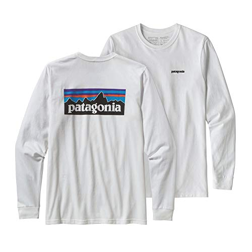[パタゴニア]Patagonia Men's Long-Sleeved P-6 Logo Responsibili-Tee Tシャツ 白 長袖 (XL) [並行輸入品]