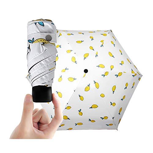 Reizen Vouwparaplu, Ultra Licht Mini Anti-UV Paraplu, Lichtgewicht Kleine Compact Vouwen Vrouwen Paraplu voor Zon Regen
