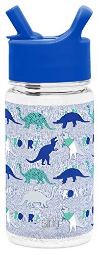 Simple Modern 16oz Summit Kids Tritan Water Bottle with Straw Lid for Toddler - Dishwasher Safe Travel Tumbler - Dinosaur Roar