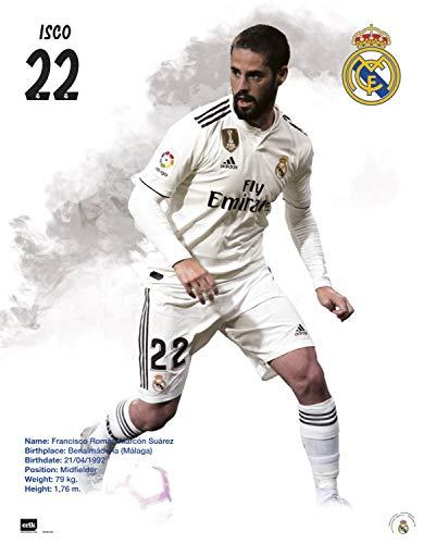 1art1 Fútbol - Real Madrid 2018/19, ISCO Póster Mini (50 x 40cm)