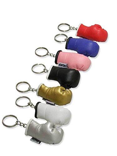 Kwon Schlüsselanhänger Boxhandschuh ohne Druck blau - weiß - silber - gold - rot - schwarz - pink