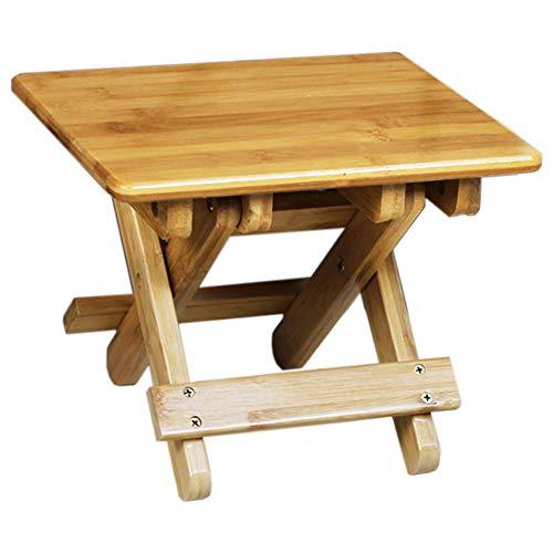 LXVY Bambus Kleine Bank Kinder Klapphocker Tragbare Outdoor Mazar Angeln Stuhl Quadratischen Hocker Erwachsenen Haushalt,30X25X29CM