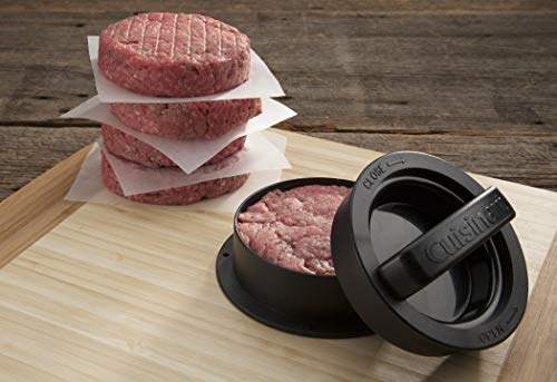 Cuisinart CSBP-100 3-in-1 Stuffed Burger Press, Black