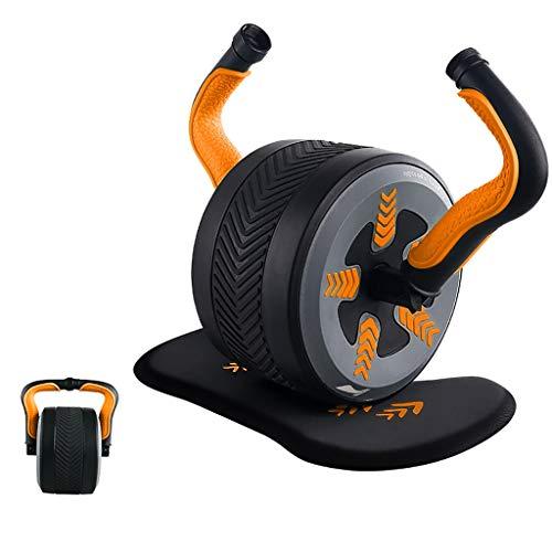 2-en-1 de múltiples funciones de la rueda abdominal, Fitness Ab Roller Wheel, Profesional de Grado y Hogar entrenamiento de la gimnasia abdominal Maquinaria en Abs ejercicio, pesas rusas cuerpo comple