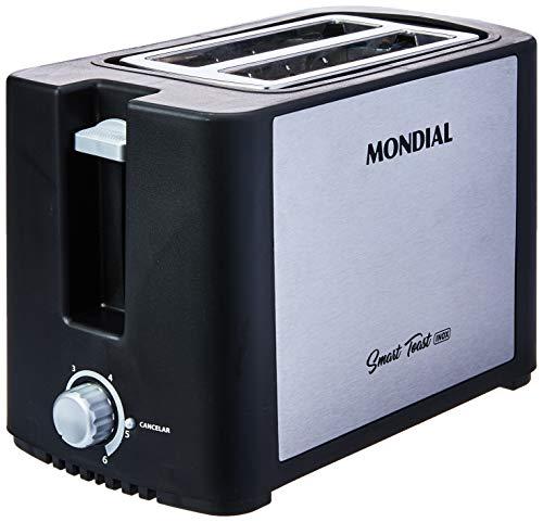 Tostador de Pães Mondial, Smart Toast Inox, 6 Níveis, 220V, Preto/Inox, 800W - T-13