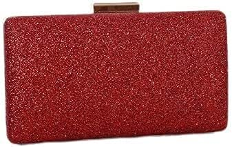 Women's Evening Handbags Clutch Purses for Women Evening Bags Sparkling Frosted Shoulder Party Cross Body Handbags (Color : Red)