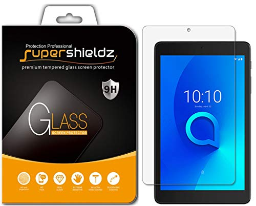 (2 Pack) Supershieldz for Alcatel Joy Tab/Joy Tab Kids and Alcatel 3T (8 inch) Tempered Glass Screen Protector, Anti Scratch, Bubble Free