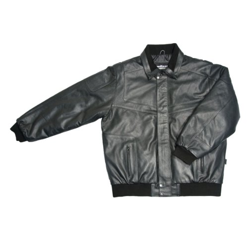 Mossi Deluxe Thinsulate Leather Snowmobile Jacket (Black, XX-Large)