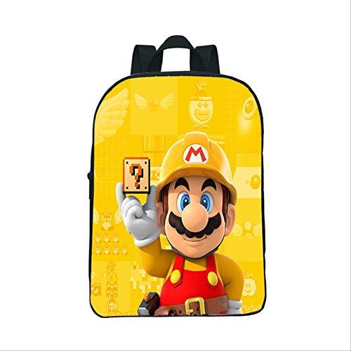 super mary Bolso Mochila de 12 pulgadas Super Mario Bros, mochila de jardín de infantes tan seria, mochilas escolares para niños y niñas, mochila para niños pequeños, el mejor regalo