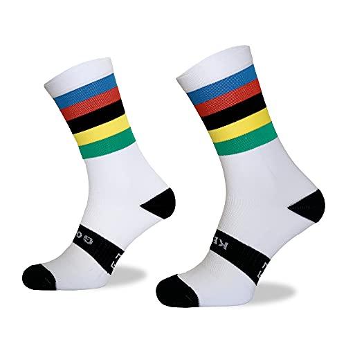Calcetines Deportivos Técnicos Compresivos, diseñados para el Alto Rendimiento en la Práctica Deportiva de Running, Ciclismo, CrossFit, Gimnasio. Coolmax.