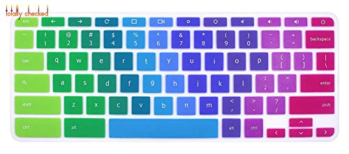 Laptop Keyboard Cover Protector Skin for 2019 2018 Acer 14 inch Chromebook CB514 CB3-431 CP5-471 / Acer Chromebook Spin 13 CP713-rainbow-