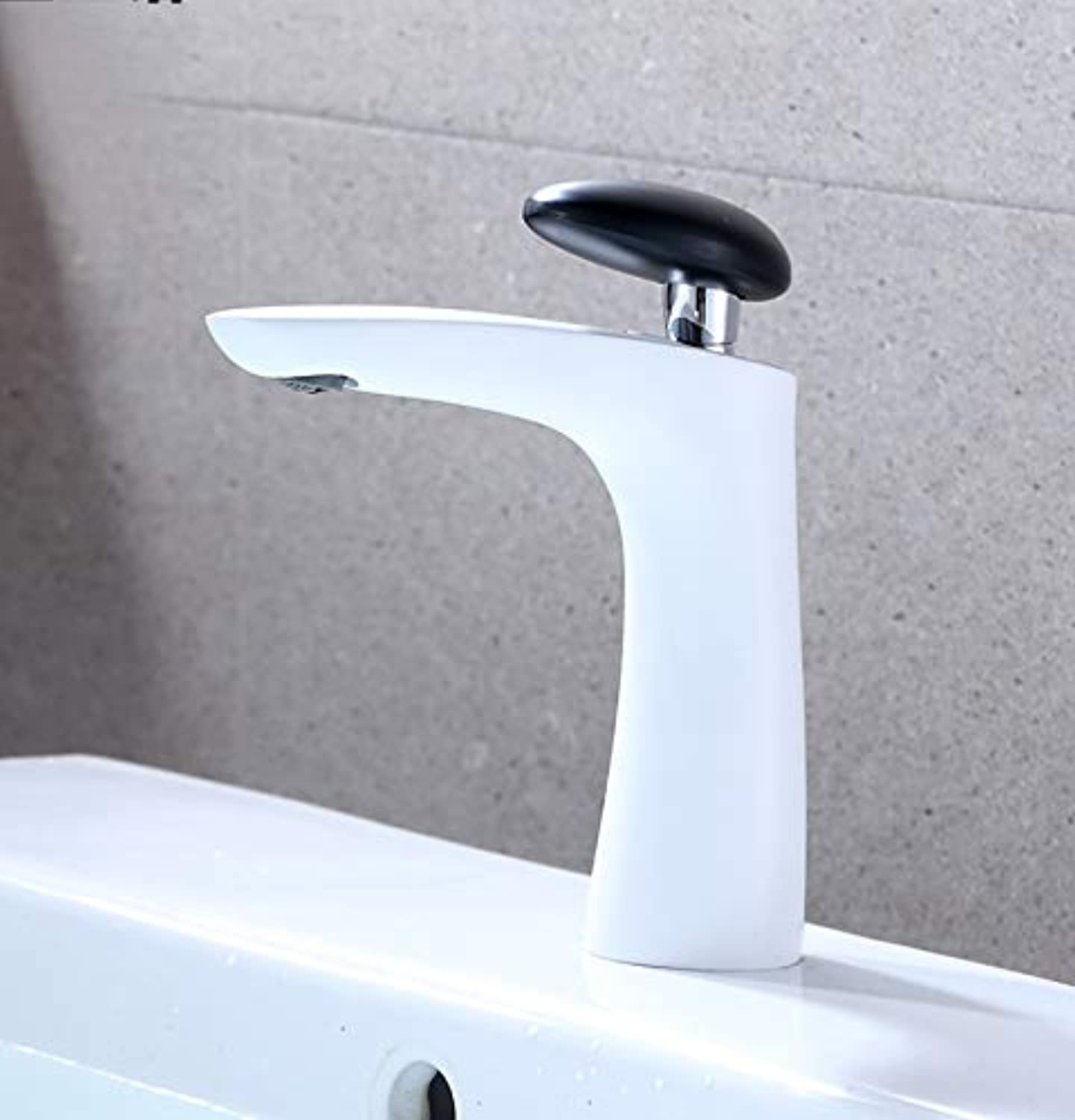 ROKTONG Faucet Copper Faucet Hot And Cold Household Single Hole Bathroom Bathroom Wash Basin Basin Basin Wash Basin Faucet