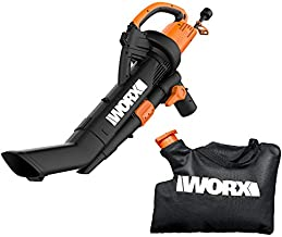 WORX WG509 TRIVAC 12 Amp 3-In-1 Electric Blower/Mulcher/Vacuum with Multi-Stage All Metal Mulching System
