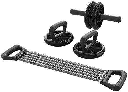 4-in-1 AB Wiel Roller met Push Up Bars Handvatten Handvatten Verstelbare Hand Gripper Borst Expander Thuis Gym Workout Uitrusting voor Mannen Vrouwen Boksen MMA Fitness Training designer workout apparatuur