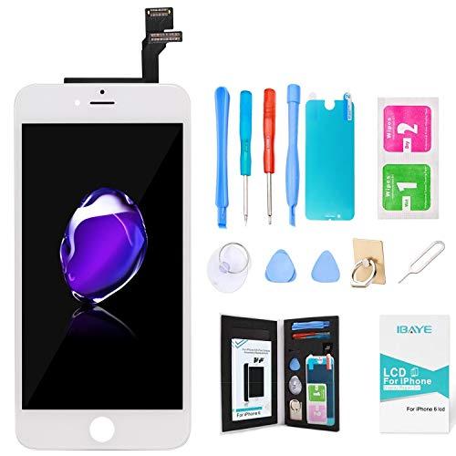 Ibaye LCD Display per iPhone 6 Bianco 4.7' - Schermo iPhone 6 LCD Touch Screen Kit Smontaggio Trasformazione Completo di Ricambio Utensili Inclusi