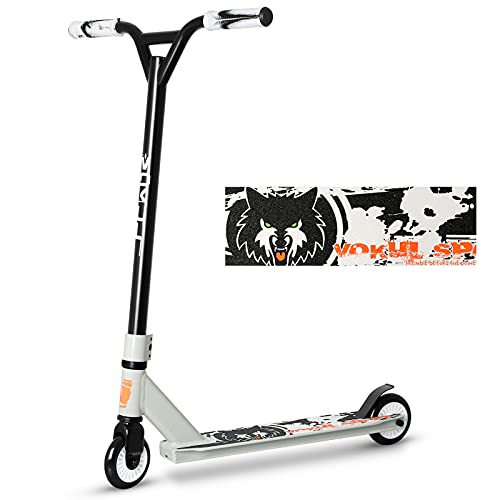 Pro Scooter, Entry Level Trick Stunt Scooters for Kids Ages 6 Years and Up, Aluminum and Lightweight Complete BMX Freestyle Scooter for Beginners (2021 Black Gray)