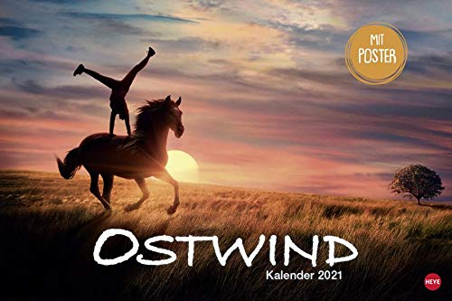 Ostwind Broschurkalender XL 2021 - mit großem Poster - Wandkalender mit Monatskalendarium und Platz für Eintragungen - Format 45 x 30 cm (45 x 60 cm geöffnet)