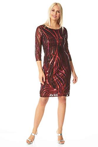 Roman Originals Vestido de malla con lentejuelas para mujer,