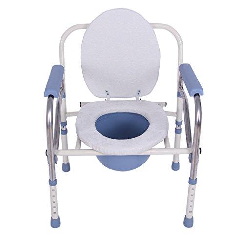 Badestuhl Ali WC-Stuhl Edelstahl-Toilettensitz Behinderten-WC-Klappstuhl Geeignet für zu Hause 64 * 53 * 38cm