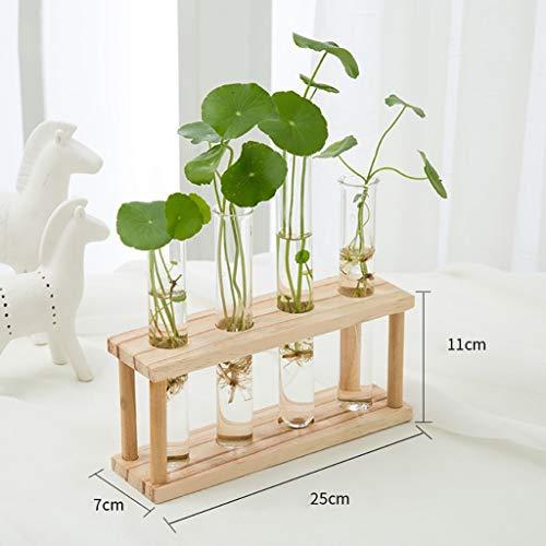 YINUO Usine Mini support de fleur décoration de bureau décoration en verre petite étagère en bois multi-couches (Size : 21x11x16cm)