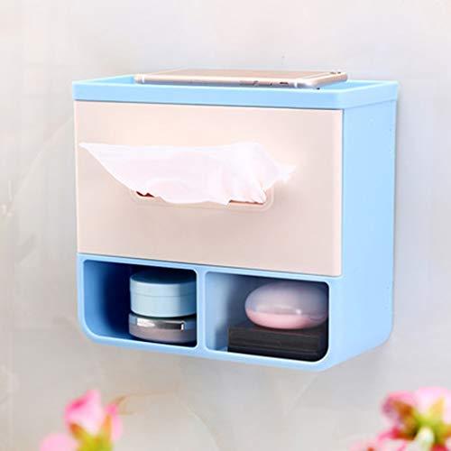 Haute qualité Porte-papier Hygiénique Auto-adhésif Créatif Porte-serviette Imperméable 18.5 * 9 * 20cm Accessoires de salle de bain (Couleur : Bleu)