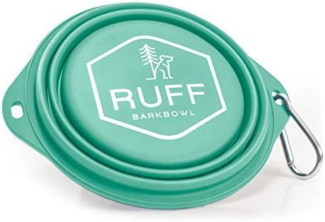 Ruff Products BarkBowl Tiffany Blue 800ml Collapsible Dog Bowl product image