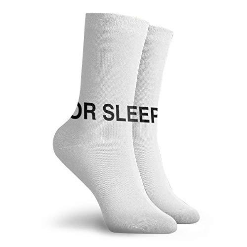 Men Women Dress Socks For Sleeping Off White Boot Knee Long