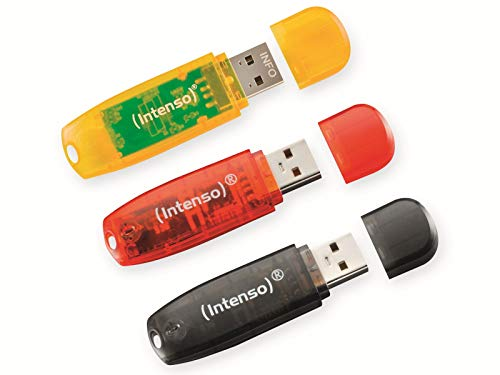 Intenso Rainbow Line 16GB 3er Pack - USB-Stick, Typ A 2.0