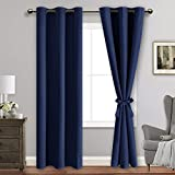 ROSETTE Blackout Curtains with Tiebacks - Thermal Insulated, Light Blocking and Noise Reducing...