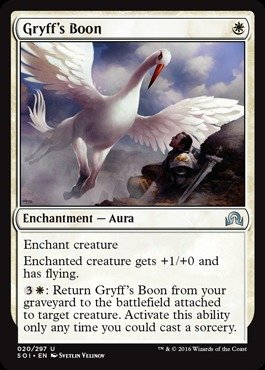 Magic: the Gathering - Gryff's Boon (020/297) - Shadows Over Innistrad by Magic: the Gathering