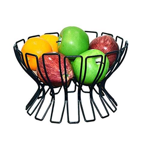 MTZQD Canasta de Fruta Tejida Malla de Hierro Plato de Fruta, Cocina Mostrador de Plato de Fruta Soporte de Verduras Soporte Decorativo for Pan, Bocadillos, Artículos for el Hogar