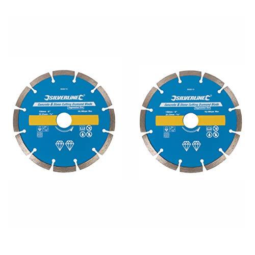 2 Stück Ersatz Diamant Trennscheiben Diascheibe passend für Mauernutfräse FERM WSM 1008 1009 / GÜDE MD 1700 / MEISTER MMF 1700 / MATRIX WC 1800 / VARO POWX 650