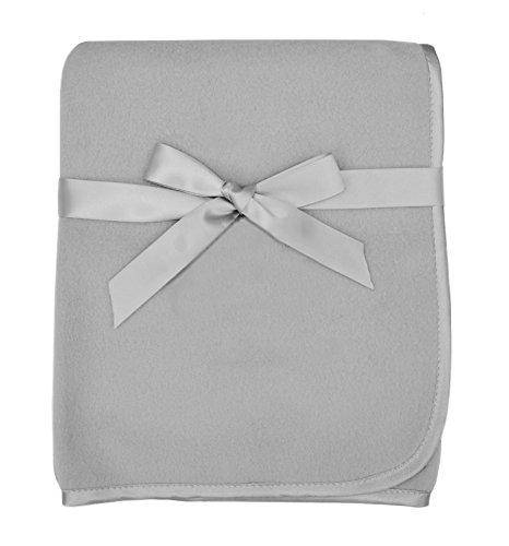 American Baby Company Fleece Blanket Gray 30 x 30 for Boys and Girls