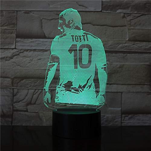 Toda la movilización de fútbol vuelve a Ver la decoración del Dormitorio Mapa de Regalo luz Nocturna fanáticos del fútbol Transporte de Novios