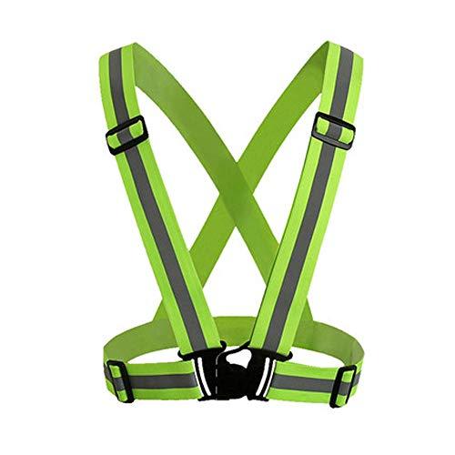 YYTL Équipement De Course Réfléchissant Réglable Veste De Sécurité Ceinture Veste Rayée Jogging Extérieur, Vélo, Marche, Moto Haute Visibilité (Color : Fluorescent Yellow, Size : 2 Packs)