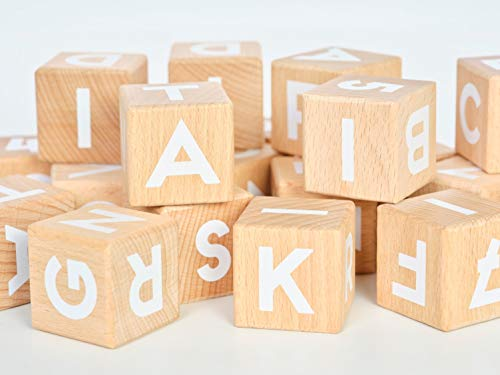 Tiny Piney ABC 123 Blocks: Wood Alphabet Blocks with Numbers - 1.5