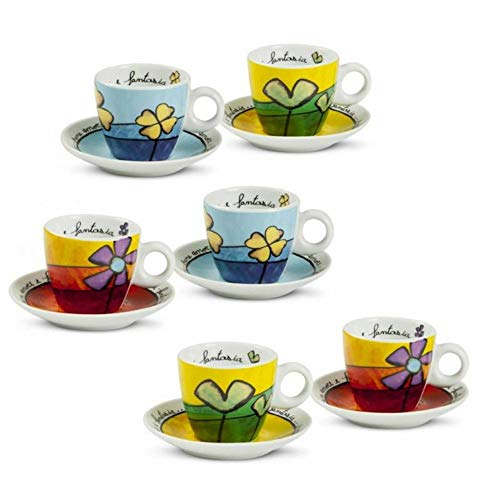Egan PAF06/1Z Set Tazzine Caffe, Porcellana, Assortite, 12 unità