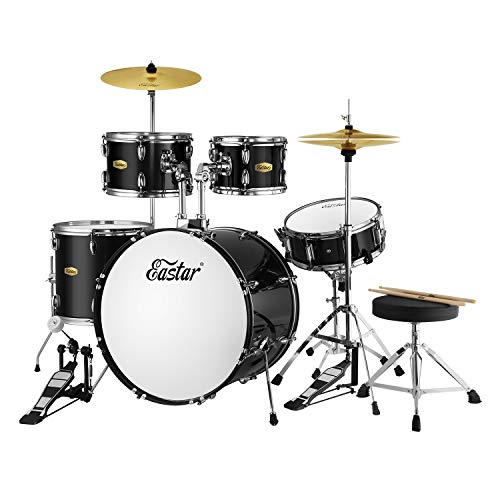 Eastar 22 inch Drum Kit Full Size for Adult Junior Teen 5 Piece Drum Set...